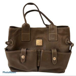 DOONEY & BOURKE BROWN LEATHER BAG